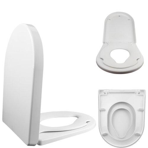FAMILY D Shape Toilet Child Training Seat Soft Close Top & Bottom Fixing
