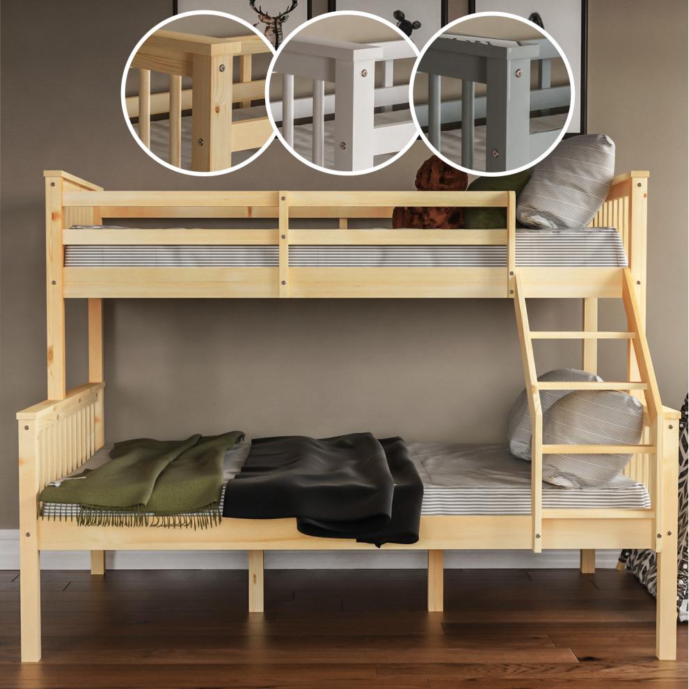 Milan Triple Sleeper Bunk Bed Solid Pine Wood Kids On Onbuy