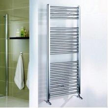 UK Bathrooms Straight Chrome Towel Radiator