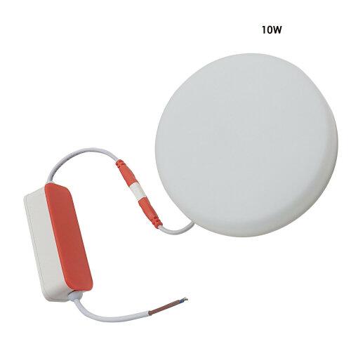 Ultrathin Round LED Panel Light Warm White Recessed Ceiling Light 10W