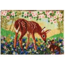 Deer Rug Latch Hooking Kit (102x69cm)