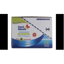 10 x Sani Hands Antibacterial Wipes 12 (1 Box= 10 x12 Wipes)