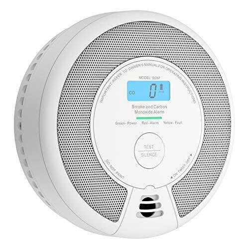 X-Sense 10-Year Battery Combination Smoke & Carbon Monoxide Alarm Detector with LCD Display, SC07