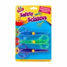 3pc Set Kids Safety Scissors with Assorted Shaped Cuts