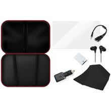 7-in-1 Travel Kit Bag for Nintendo Switch Console with Case, Car Charger