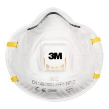 3M Disposable Respirator, FFP1, Valved, 8812, EN safety certified Box of 10