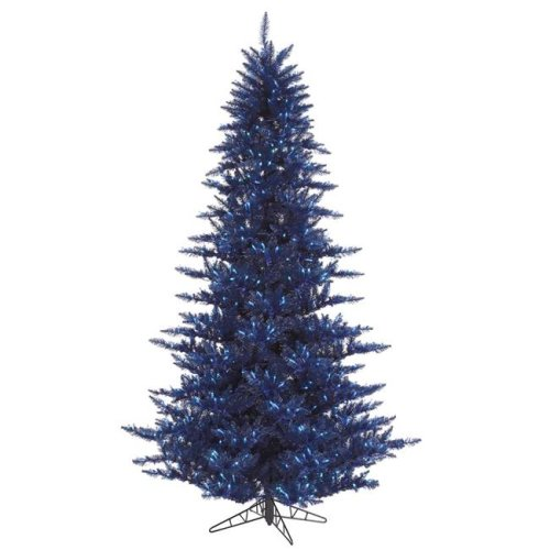 Vickerman K160646LED 4.5 ft. x 34 in. Navy Blue Christmas Tree with 250 Blue & 525 Tips Mini LED Lights