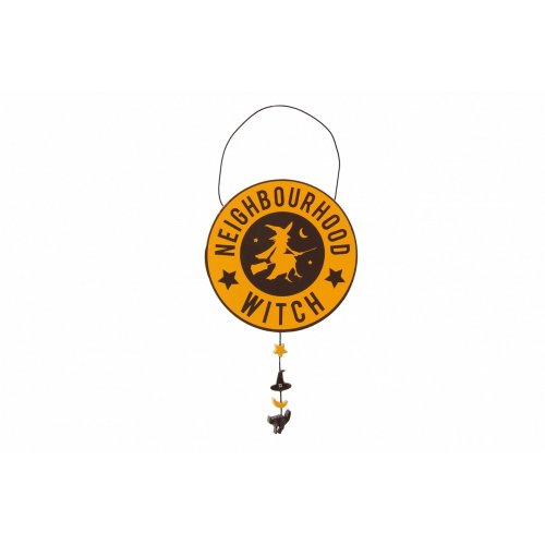 CGB Giftware Haunted House Neighbourhood Witch Wall Sign