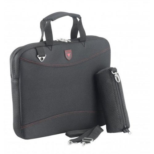 "15.6"" Falcon Neoprene Laptop Sleeve - FI2598 Black/Red"