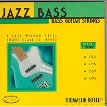 Thomastik Strings for Electric Bass Jazz Bass Serie Nickel Round Wound Roundcore Set JR324 4-string roundwound short scale 32""