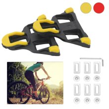 Road Bike Pedal Cleats for Shimano SPD-SL Cycle Bicycle Equipment Red Yellow