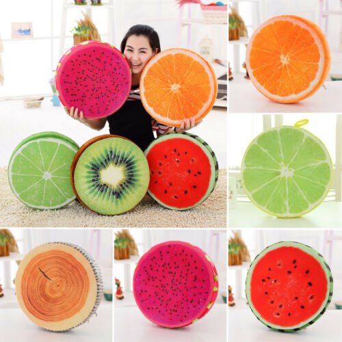 3D Print Seat Round Chair Cushions Pad Fruit Garden Dining Kitchen Outdoor Gifts