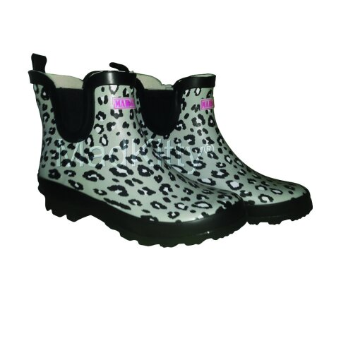 Ladies Animal Print Ankle Wellies SLIGHT SECONDS