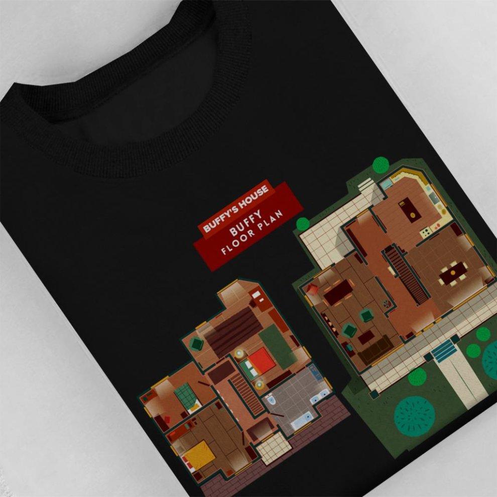 Buffy The Vampire Slayer House Floor Plan Kid S Sweatshirt On Onbuy