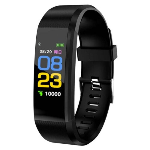 (Black) Smart Watch Band Sport Activity Fitness GYM Tracker For Kids Adults