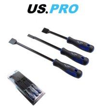 US PRO 3pc Scraper Set With TRP Grip Handles 5041
