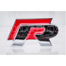 MODIFIX   VW R Line Red Chrome Rear Tail Emblem Badge Decal Boot Trunk Sticker Golf Passat Scirocco Polo Genuine Modified