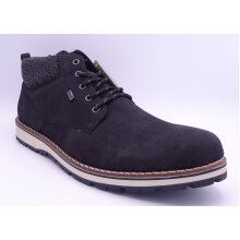 Rieker Men's Black Lambswool Lined Ankle Boots
