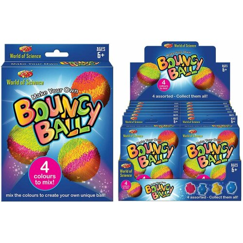 The Magic Toy Shop Set of 12 Make Your Own Bouncy Ball Kids Art Craft Set Party Bag Fillers Toys