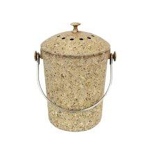 Brown Eco Natural Fibre Compost Pail/Food Bin - 4.5 Litre