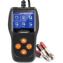 KONNWEI KW600 Car Battery Tester 12V Professional 100-2000 CCA Automotive Battery Load Analyzer Alternator Waveform Voltage Test for Car Motorcycle