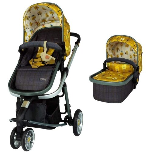 Cosatto Giggle 3 Pram & Pushchair – From Birth to 18kg, Lightweight, Compact, Flat-Fold (Spot The Birdie)