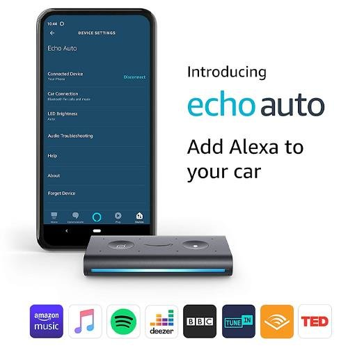 Amazon Echo Auto In Car Smart Speaker With Alexa - Black