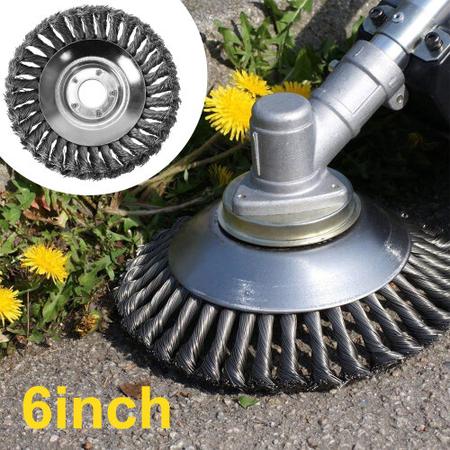 Steel Wire Wheel Trimmer Head Garden Weed Cutter Brush Lawn Mower Head