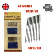20Pcs Flat Round Domestic Home Sewing Machine Needles