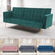 Velvet Sofa Bed With Gold Legs
