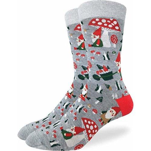 Socks - Good Luck Sock - Men's Crew Socks  - Woodland Gnomes (7-12) 1423