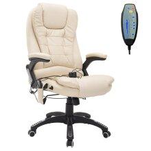 HOMCOM Reclining PU Leather Home Office Computer Swivel Chair Vibration Massage