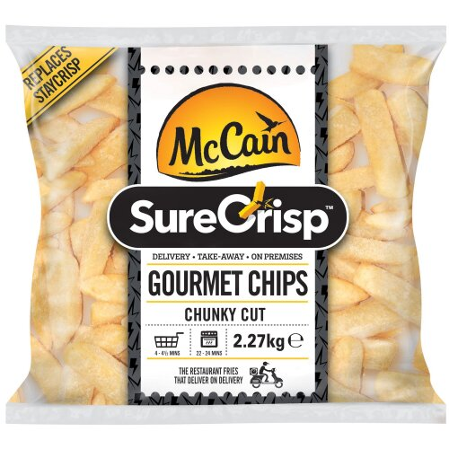 McCain SureCrisp Gourmet Chunky Chips - 4x2.27kg