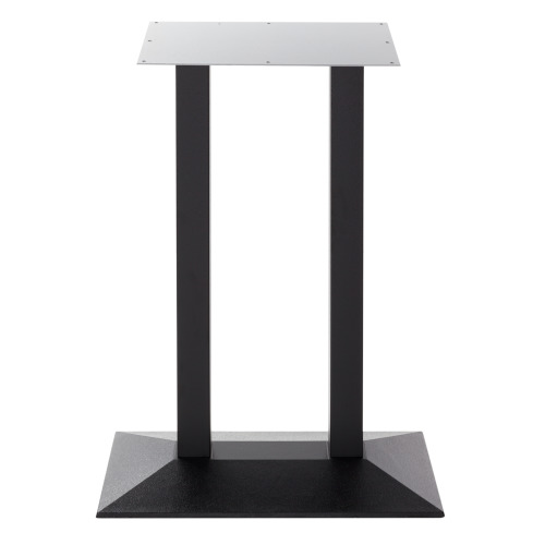 Black cast iron pyramid table base - Twin - Poseur height - 1050 mm