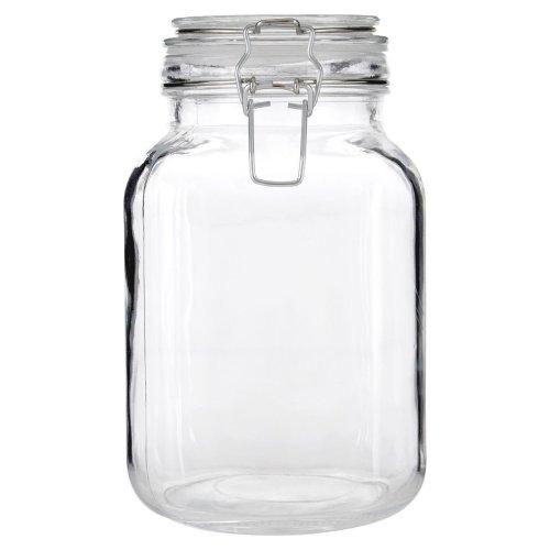 Vintage Style Glass Storage Jar Clip top Lid, 2000 ml