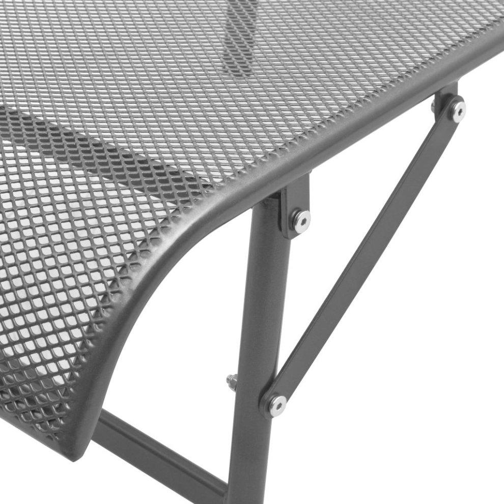 vidaXL Sunlounger Steel Mesh Adjustable Outdoor Garden Reclining Mesh Chair