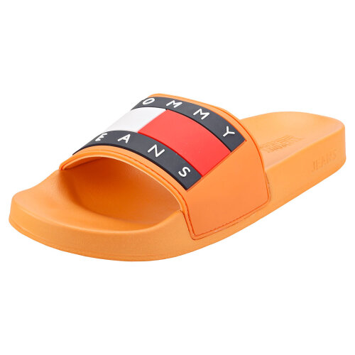 (3.5) Tommy Jeans Flag Pool Womens Slide Sandals