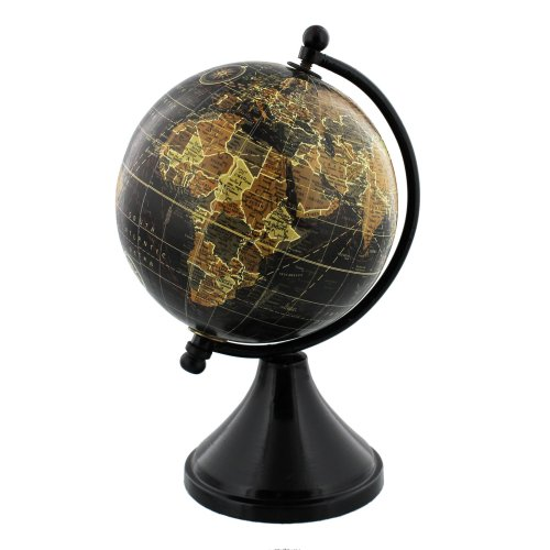 Emporium Collection Globe with Metal & Wooden Base 10cm - Widdop