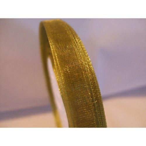 Organza Ribbon Roll - 10mm x 50 Yards (45 Metres) - Sage Green