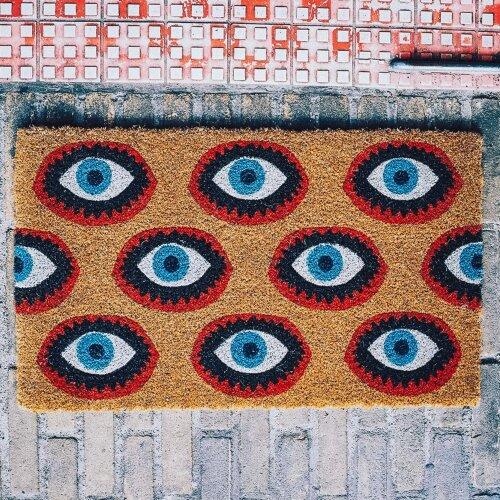 Kitsch Kitchen Eyes Doormat