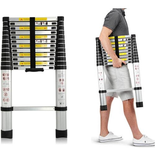 3.2M Aluminum Telescopic Ladder  Portable Extension Ladder EN131