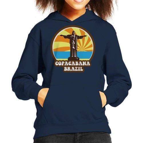 Copacabana Brazil 70s Style Kid's Hooded Sweatshirt