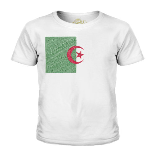 Candymix - Algeria Scribble Flag - Unisex Kid's T-Shirt