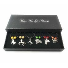 Horse Lovers Wine Glass Charms with Gift Box