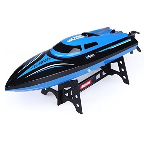 (Blue) deAO Toys Radio Controlled 2.4GHz Toy Racing Boat