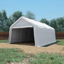 vidaXL Storage Tent PVC 550 g/m² 4x6 m White Outdoor Canopy Pavilion Tool Shed