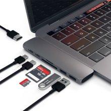 Hub Dual USB Type C Multiport Card Reader 4K HDMI For Mac MacBook Pro