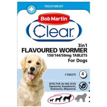 Bob Martin 3-in-1 Dog Worming Tablets
