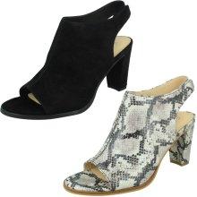 Ladies Clarks Smart Block Heeled Court Shoes Kaylin Cara - D Fit