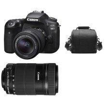 CANON EOS 90D KIT EF-S 18-55mmF3.5-5.6 IS STM+EF-S 55-250MM IS STM+Bag